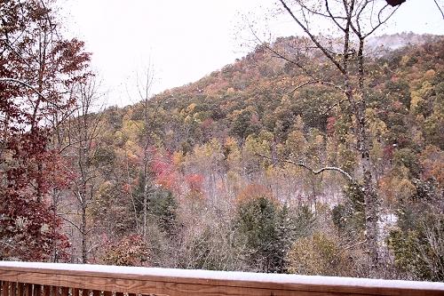 Snow on Black Mountain