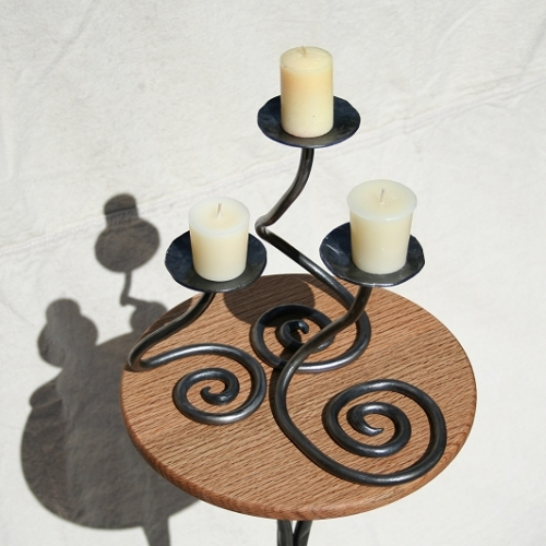 Spiral candle holders