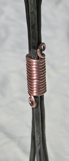 Copper wrap hides the welds